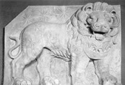 Cast of the West Terrace lion horoscope showing the nearly perfect condition of the relief when it was uncovered in the late 19th century; photograph from Humann & Puchstein 1890