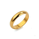 24K Yellow Gold Filled Smooth Ring 4MM Band Wedding GF