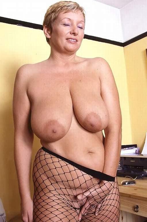 Mature Big Tits Smoking Mom