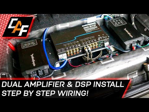 video : car audio wiring - dual amplifier and dsp install - when installing  a carwhen installing a caraudio systemit is critical that the wiring for  the