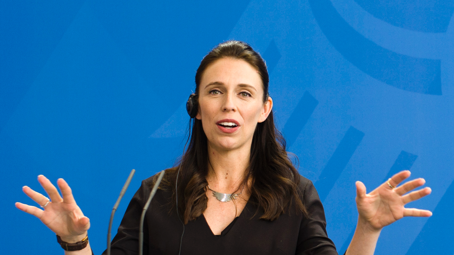 FILE - In this April 17, 2018, file photo, New Zealand Prime Minister Jacinda Ardern speaks to the media in Berlin. Prime Minister Ardern is visiting New York this week for the U.N. General Assembly and has announced a number of high-profile media interviews she'll be doing. But while Ardern is admired abroad by many people who see her as a counterpoint to U.S. President Donald Trump, Ardern is facing political hurdles at home. Last week she fired a lawmaker from her ministerial role. Ardern must get support not only from her own party but also two smaller political parties to govern. (AP Photo/Markus Schreiber, File)