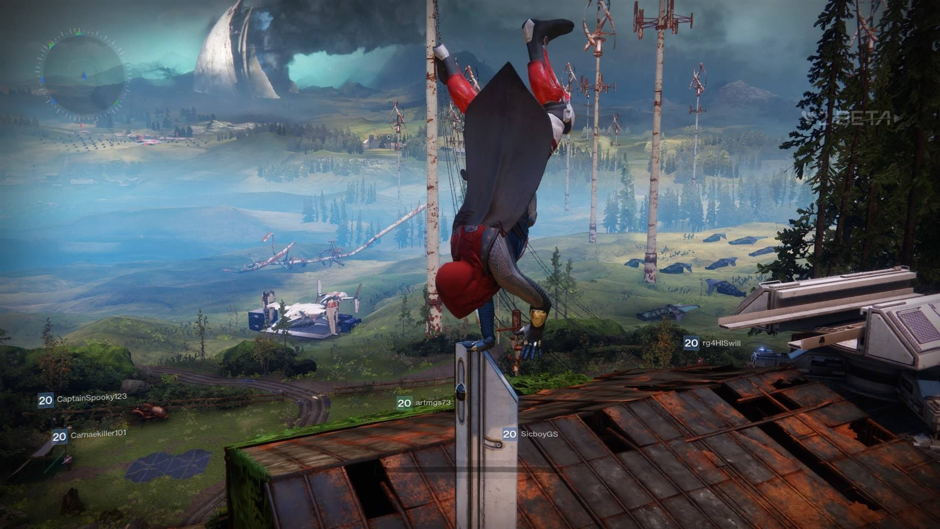 Handstanding on everything in The Farm in Destiny 2 screenshot