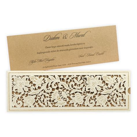 Lace Design Laser Cut Wedding Invitation 5539   ALAWWA ??????
