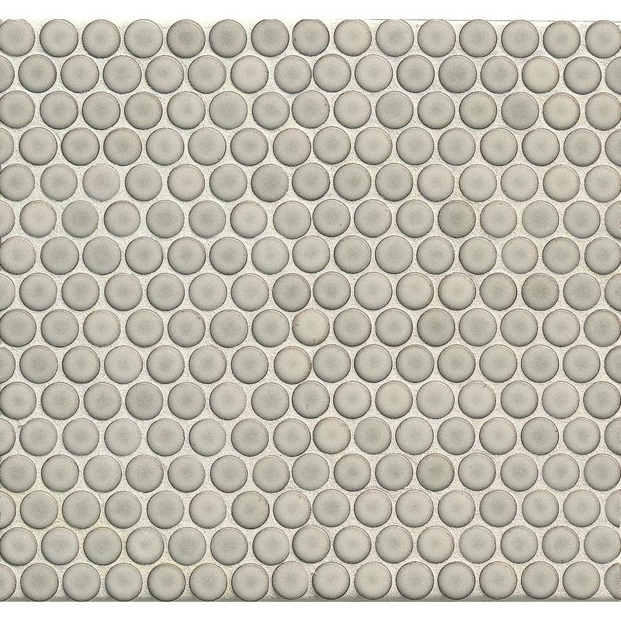 Bedrosians 360 Dove Grey 12 In X 12 In Glossy Porcelain Penny Round Mosaic Floor And Wall Tile In The Tile Department At Lowes Com
