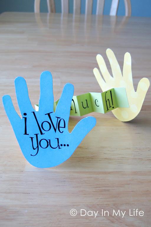 I Love You Handprint Craft