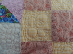 Quilting Detail - large 9-patch blocks
