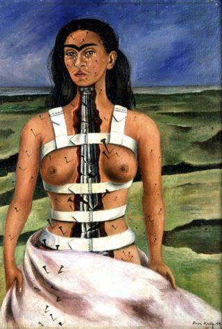 Frida la columna rota