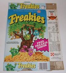 1974 Freakies cereal box