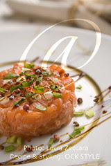 Salmon Tartare on Porcelain Plate