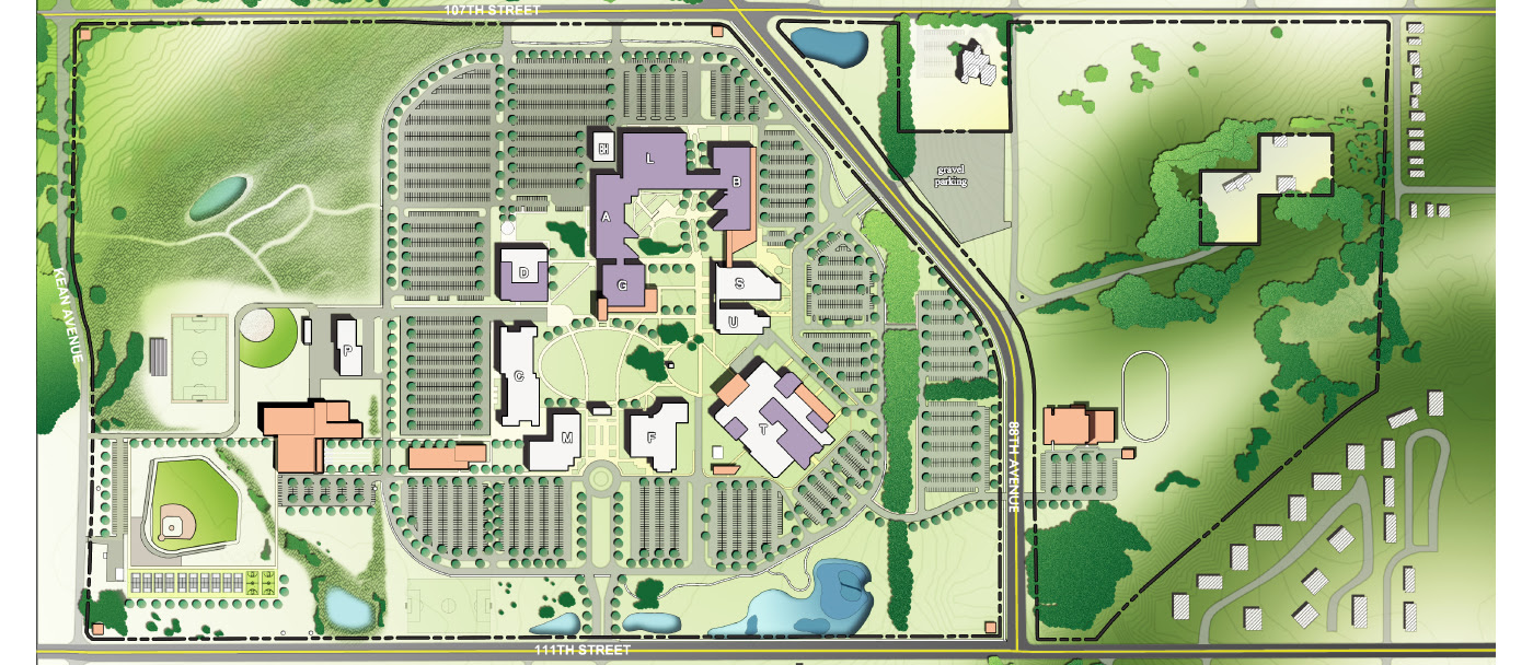 Moraine Valley Map Moraine Valley Campus Map   World Map Gray