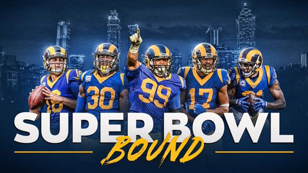 The Los Angeles Rams are headed to Super Bowl 53...which will be held in Atlanta, Georgia, on February 3, 2019.