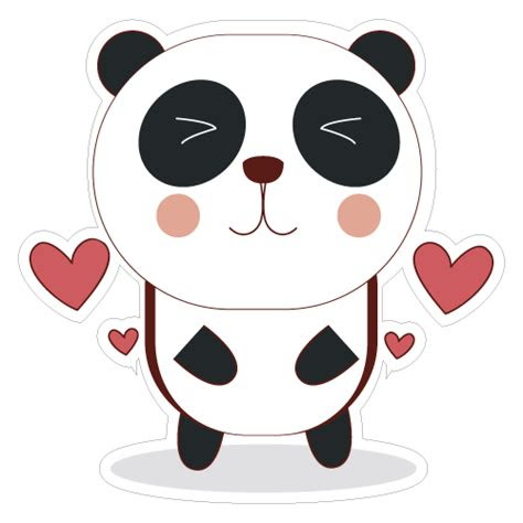 cute panda vinyl custom sticker  great prices
