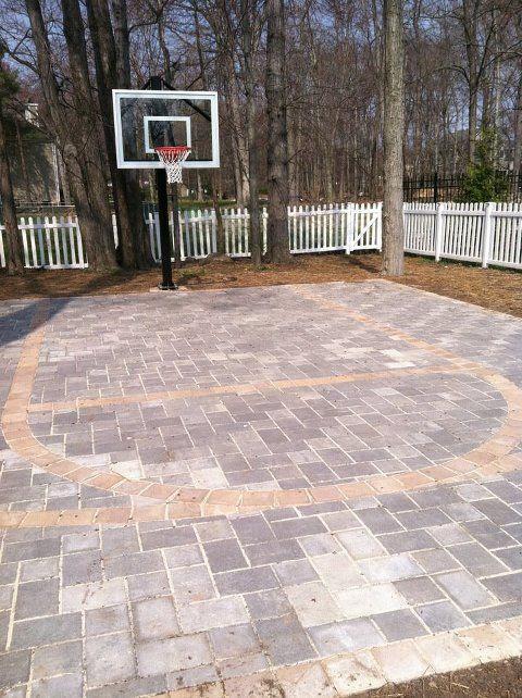 backyard basketball court ideas 17