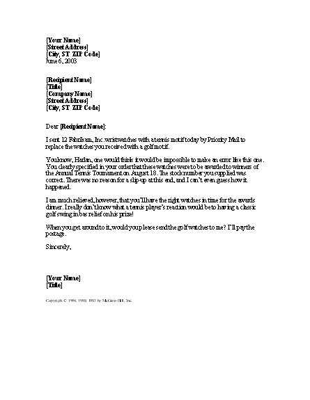 Letter Apologizing For Mistake In Order