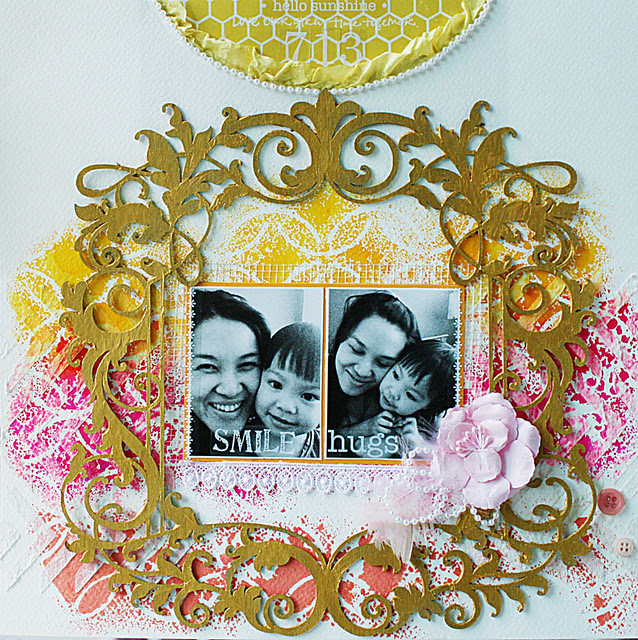 Hello-sunshine-mixed-media-layout