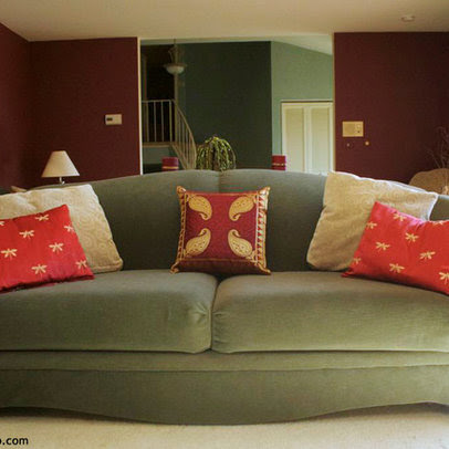 Living Room red paint colors Design Ideas, Pictures, Remodel and Decor