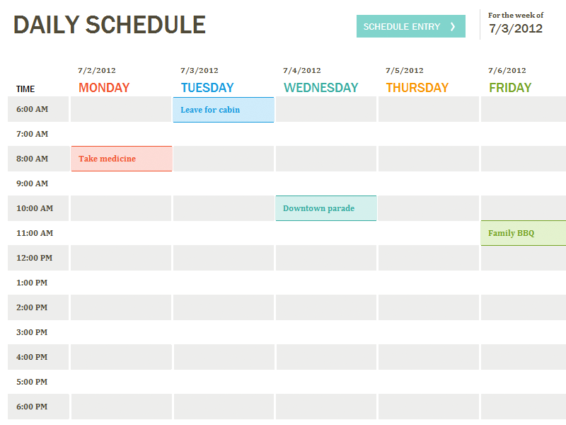1000+ ideas about Daily Schedule Template on Pinterest | Schedule ...