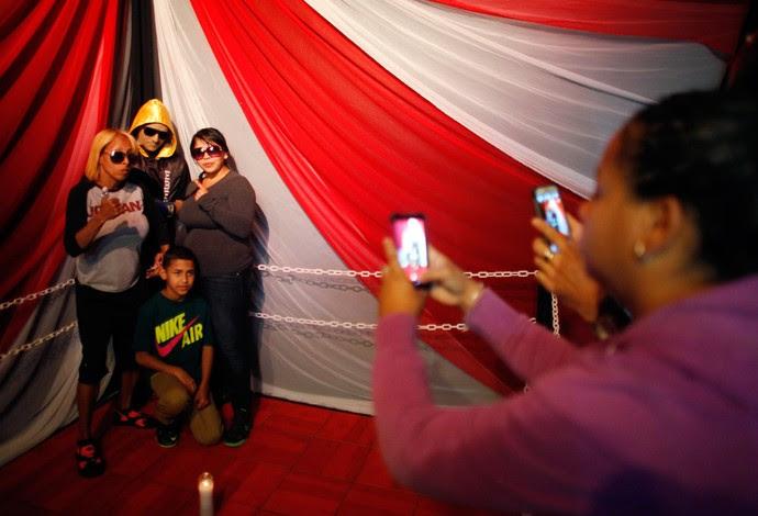 Christopher Rivera velório (Foto: AP)