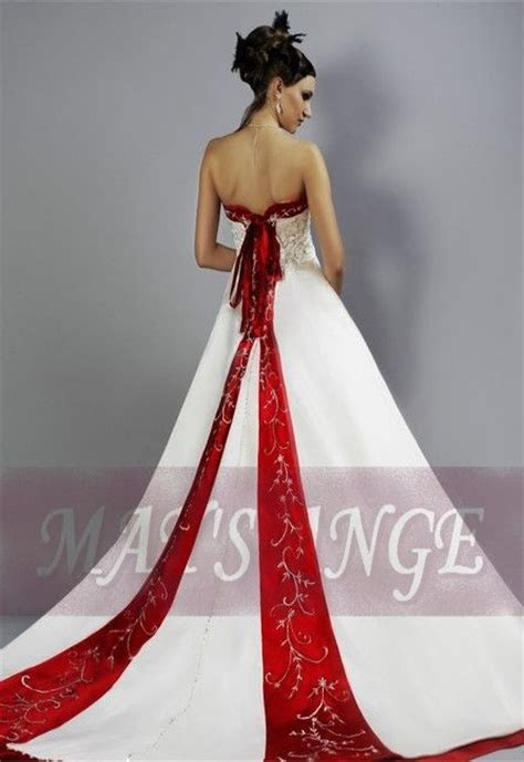 wedding dresses Fairy Tale red and white Wedding Dresses
