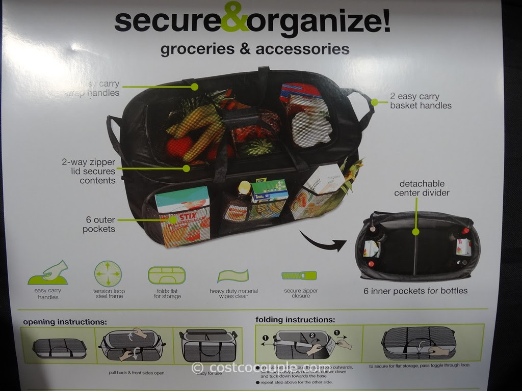 Smart Works Popup Organizer Tote