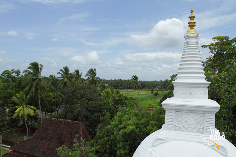 Lush green Srilankan landscape seen from the top of Isurumuniya Vihara, Anuradhapura