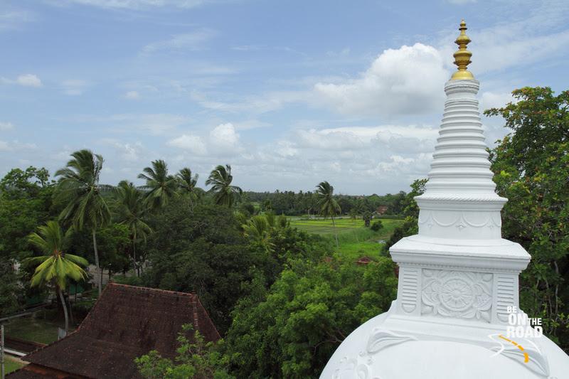 Lush green Srilankan landscape seen from the top of Isurumuniya Vihara, Anuradhapura