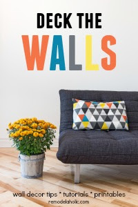 Deck The Walls wall decor tutorials and link party at Remodelaholic