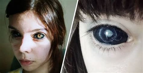 woman blind eyeballs tattooed