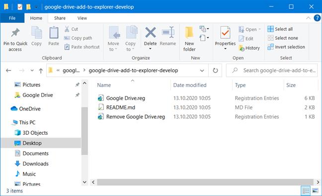 Los archivos de registro de Google Drive