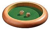 木製ダイストレイ 円形(ダイス2個付属) - Philos3121 [並行輸入品]