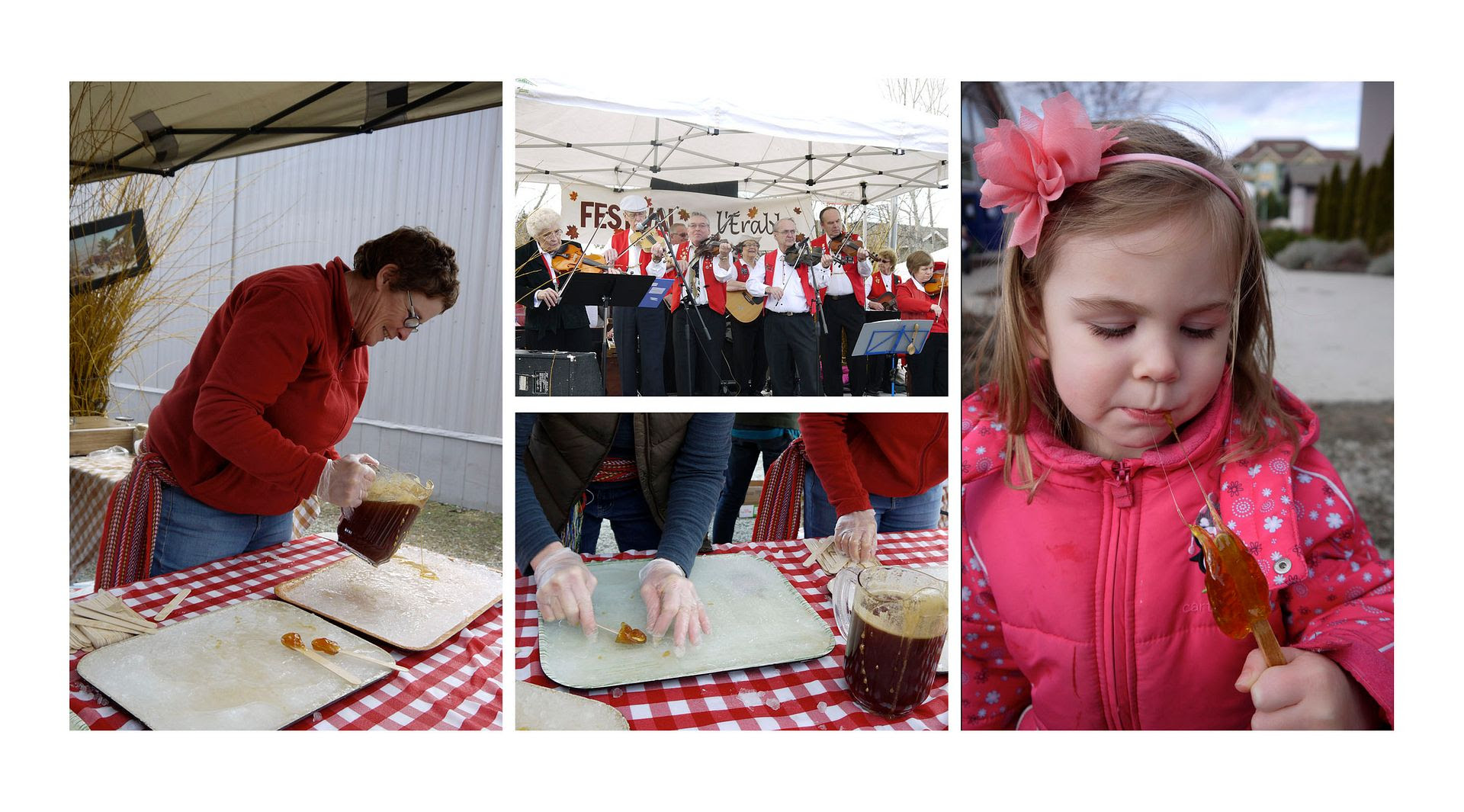 2012.03.27, Le Festival de l'Erable! (The maple festival) Break out the traditional fun and games, French Canadian music and thick maple syrup on a stick! Yummmmmm!