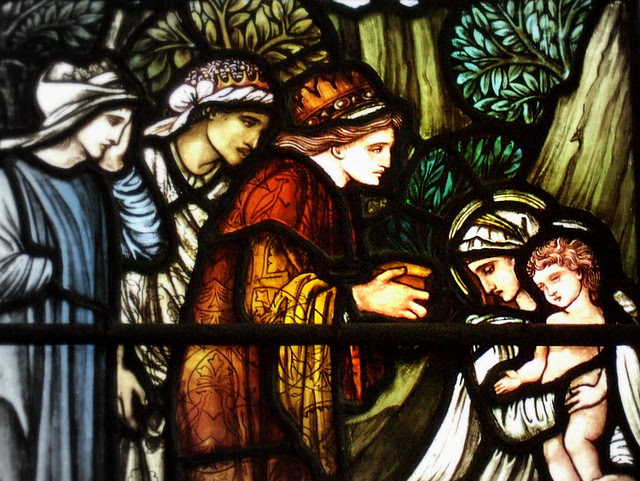 """Detail of """"The Adoration of the Magi"""""""