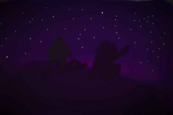 Just a little picture I did of Steven and Peridot stargazing. :)