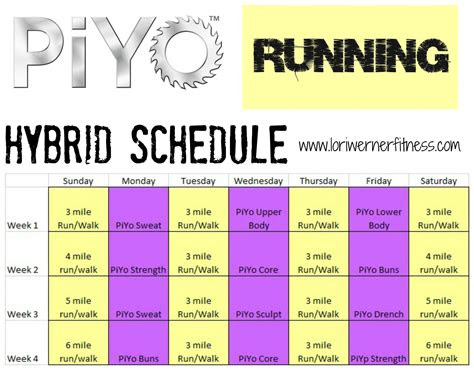 running piyo hybrid google search beachbody workout