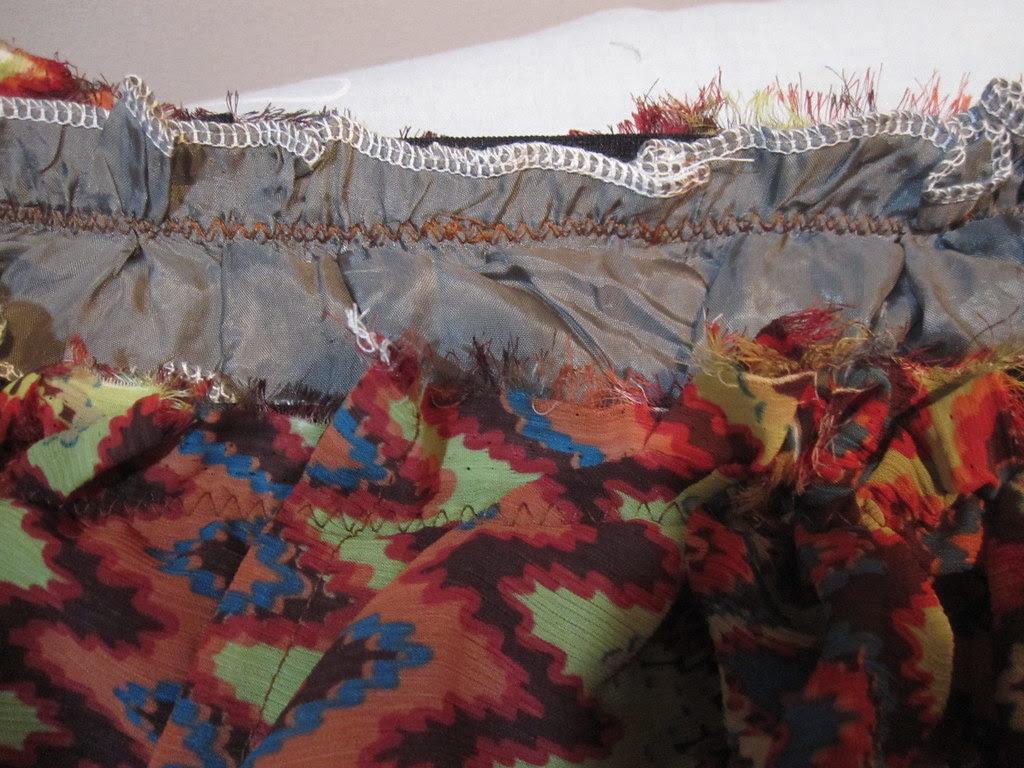 Stitch Fashion Fabric to Waistband