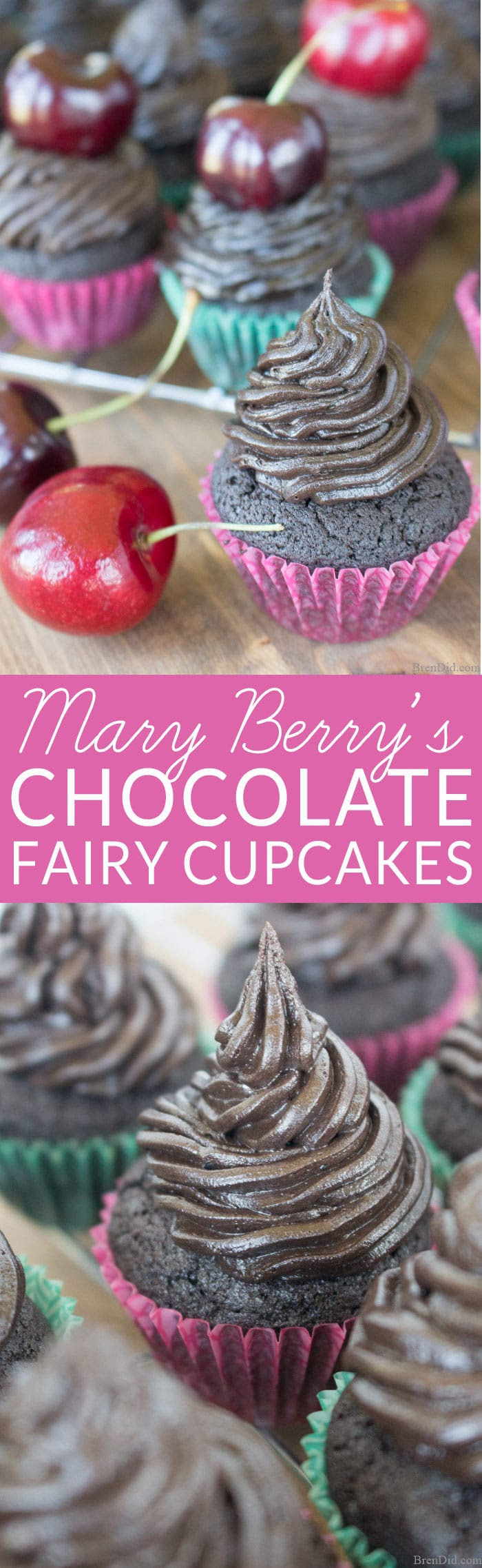 Mary Berry's Fairy Cakes: Chocolate Cupcake Recipe - Bren Did
