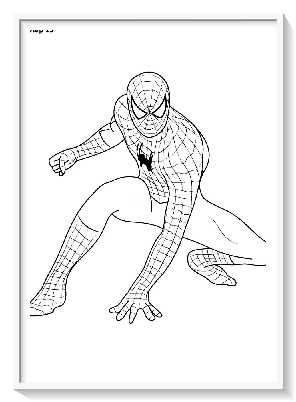 Dibujos Spiderman Para Colorear En Linea Biblioteca De