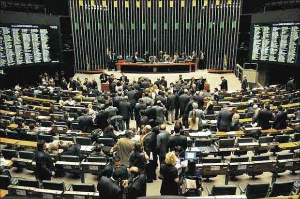Plenário da Câmara: informações sobre as representações parlamentares financiadas pela Casa são difusas, o que dificulta a fiscalização (Iano Andrade/CB/D.A Press)
