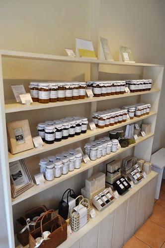 shelves of