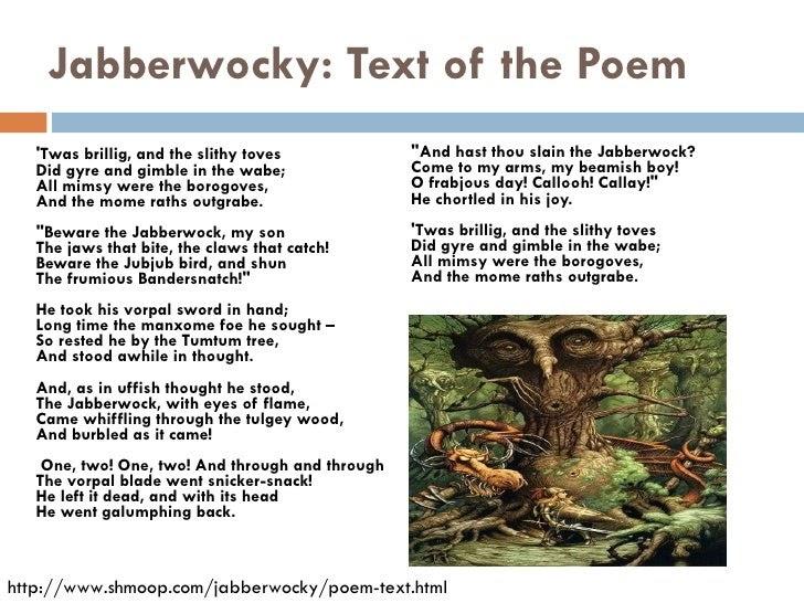 68 Meaning Of Poem Jabberwocky