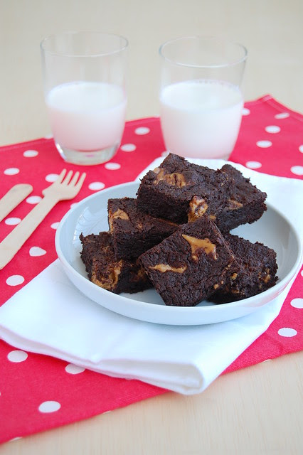 Peanut butter brownie / Brownies com manteiga de amendoim
