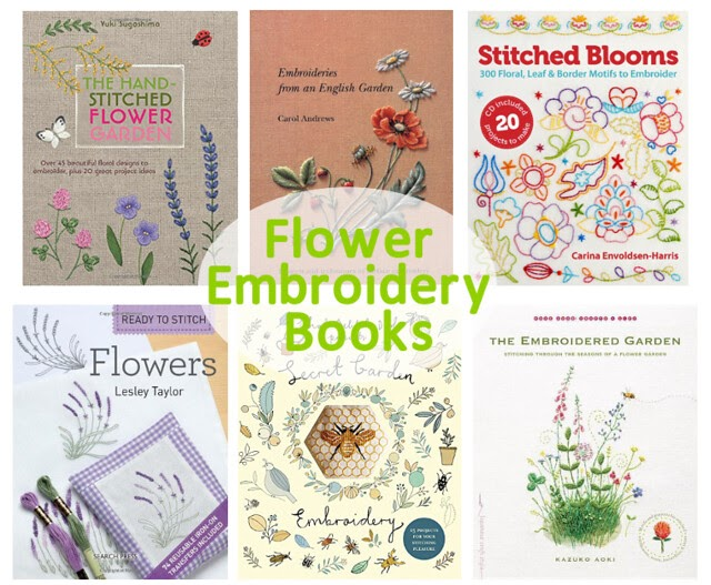 Stitches stitchy wish list flower embroidery books