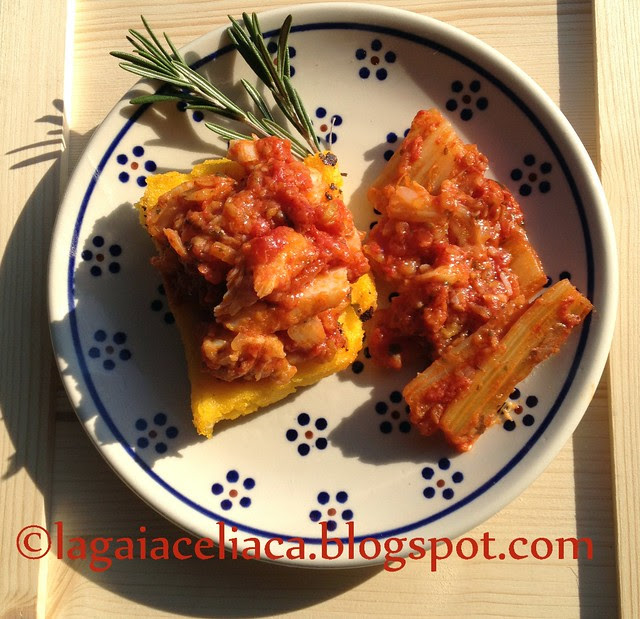 crostoni di baccalà alla livornese con i gobbi