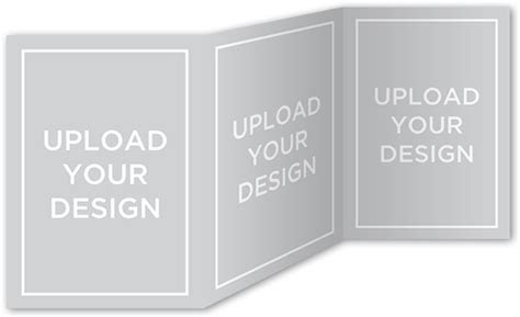 Upload Your Own Design 5x7 Tri Fold Stationery Card by