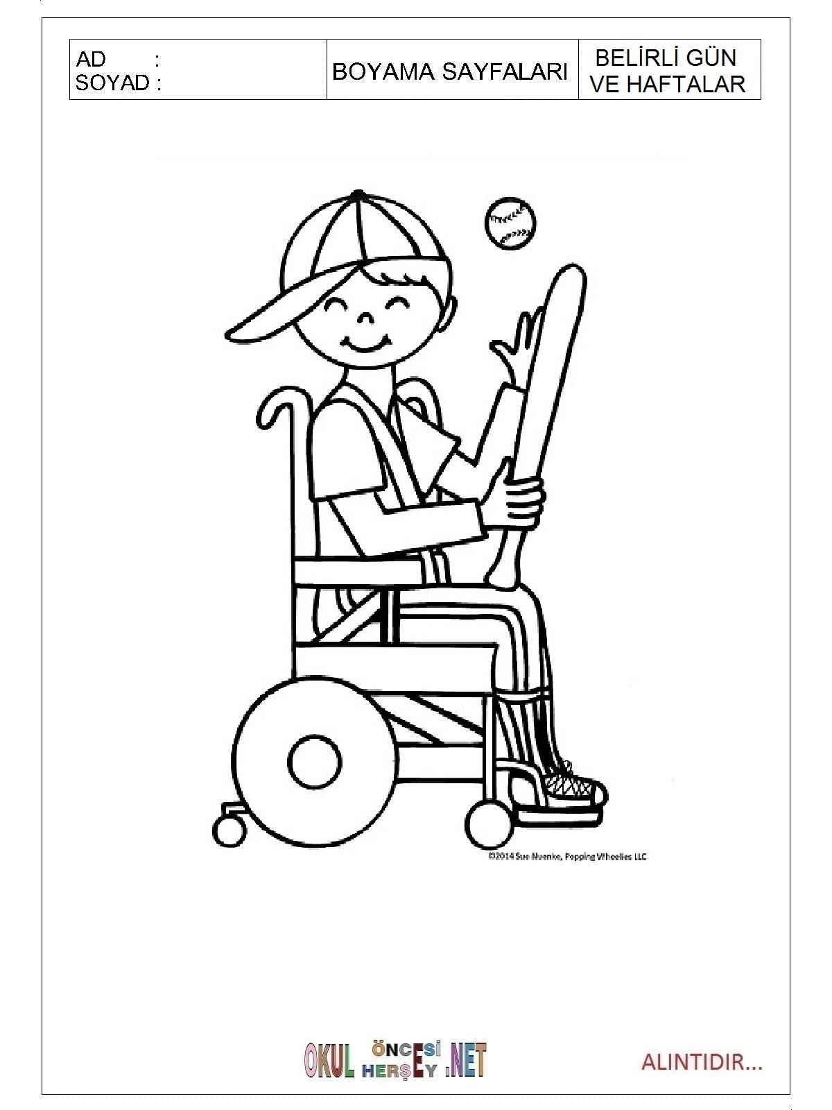 Engelliler Haftası Boyama Sayfaları