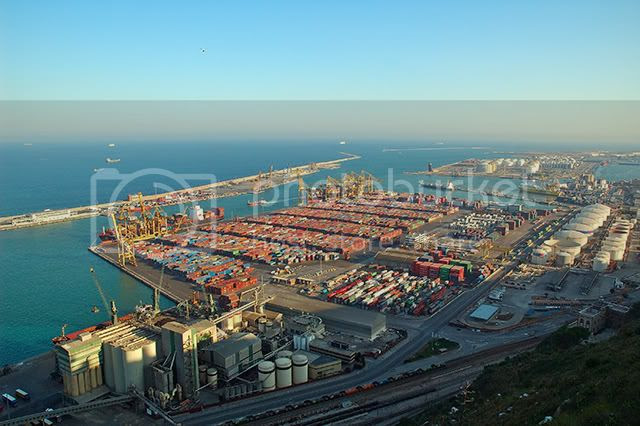 Port of Barcelona in Spain [enlarge]