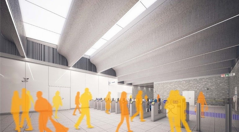 Woolwich Station - architects impression image of Crossrail station_147932