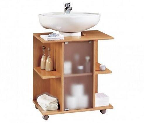 Baños pequeños como ganar espacio - muebles con pedestal