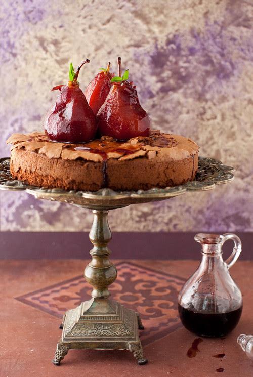 Pears Chocolate Cake 4