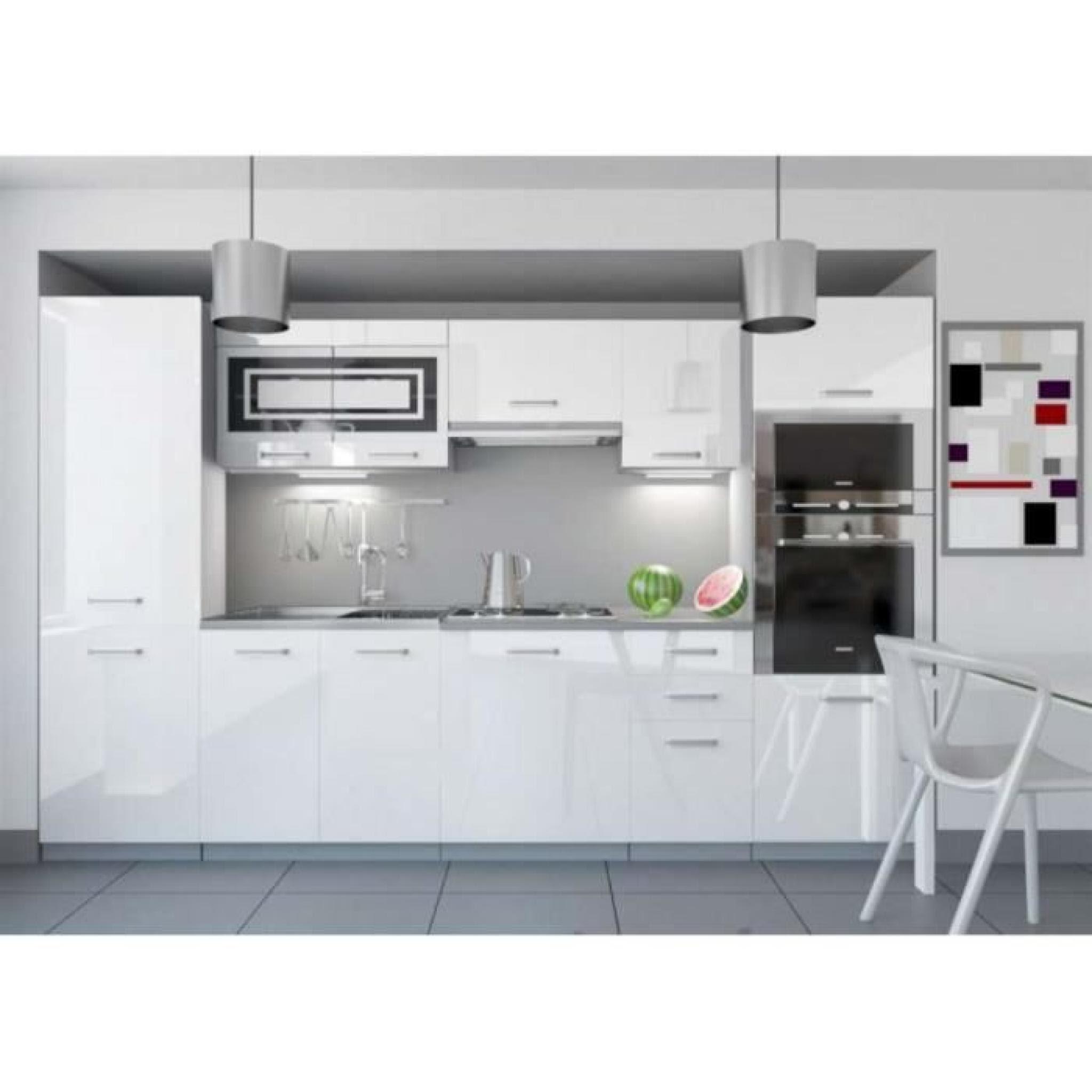 Justhome Infinity Led Cuisine équipée Complète 300 Cm Couleur Noir